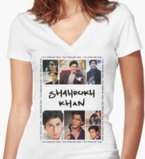 Shahrukh Khan Tshirt Women's Fitted V-Neck T-Shirt