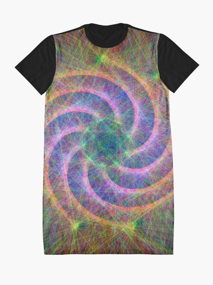 Alternate view of Optical lines Graphic T-Shirt Dress