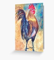 Day Rooster Greeting Card