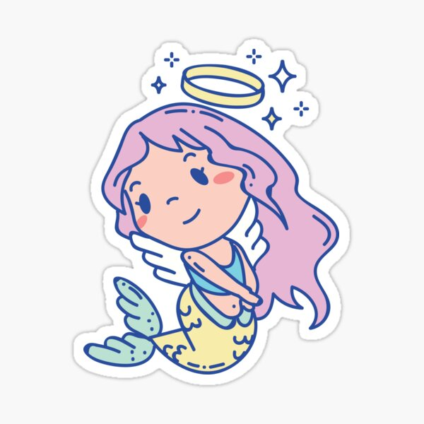 Angelic mermaid Sticker