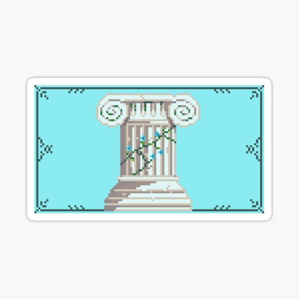 Pixel Pillar Sticker