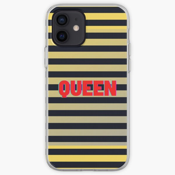 Queen Bee Striped Yellow Black iPhone Soft Case