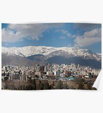 Vue sur la montagne de Téhéran Poster