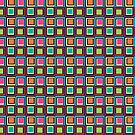 Abstract Colorful Squares by CroDesign