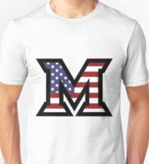 Miami University 'M' American Flag  Unisex T-Shirt