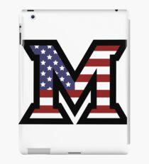 Miami University 'M' American Flag  iPad Case/Skin