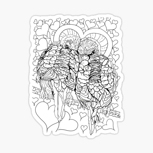 Love Budgies Sticker