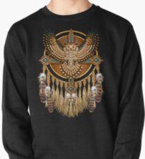 Native American Beadwork Owl Mandala Pullover Sweatshirt