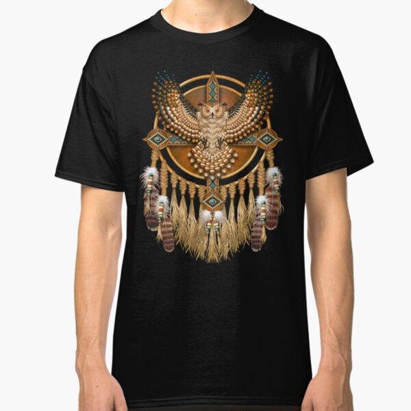 Native American Beadwork Owl Mandala Classic T-Shirt