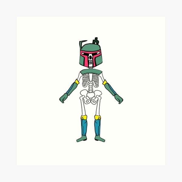 Skeleton 4 Art Print
