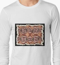 """Cayonland Digital Parchment"" © 2008 Brad Michael Moore Long Sleeve T-Shirt"