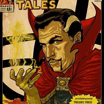 VINCENT PRICE AS DR. STRANGE- RETRO COMIC COVER by ATOMICBRAIN