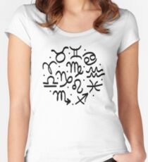 Zodiac signs collection Women's Fitted Scoop T-Shirt