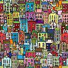 Abstract cityscape background by Kudryashka