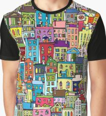Abstract cityscape background Graphic T-Shirt
