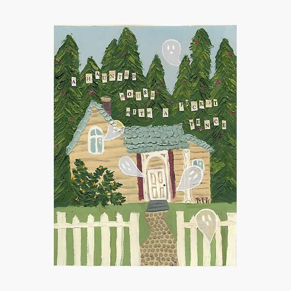 phoebe bridgers haunted house with a picket fence poster painting Photographic Print