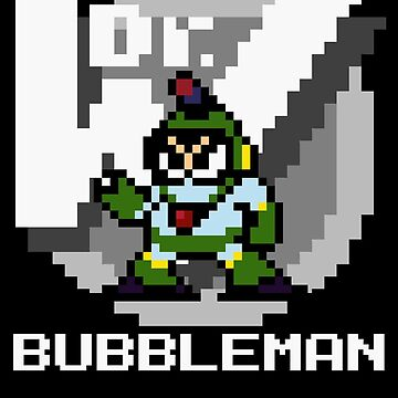 Bubbleman with text (White) by Funkymunkey