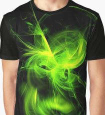 Green Flame Fractal Graphic T-Shirt
