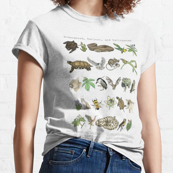 Endangered, Extinct and Extirpated Classic T-Shirt