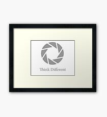 Aperture Science, Think Different Framed Print