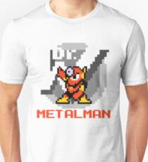 Metalman with text (Red) Unisex T-Shirt