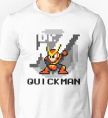 Quickman with text (Black) Unisex T-Shirt