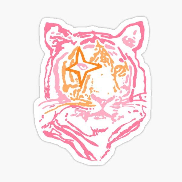 pink and orange star tiger Sticker
