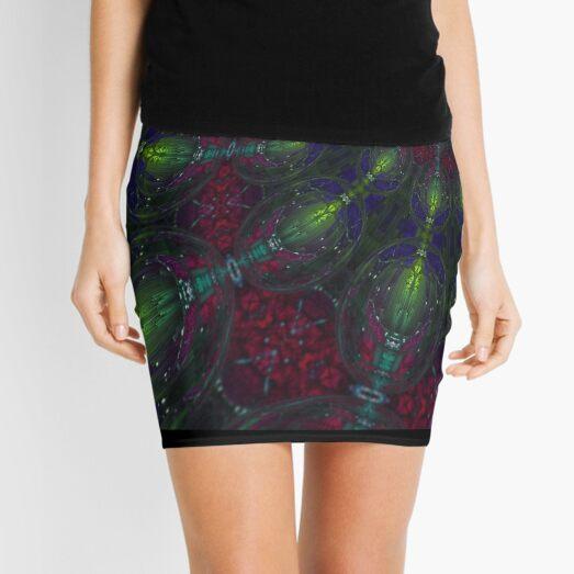 Abstract Spiraling Web of Orbs Mini Skirt