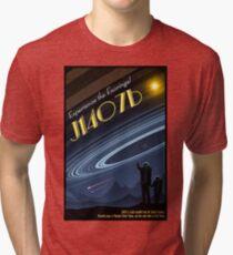 Space Travel Poster J1407b Tri-blend T-Shirt