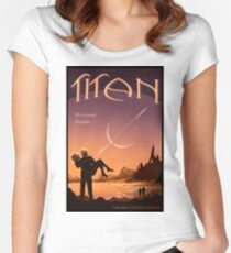Titan Travel Poster Women's Fitted Scoop T-Shirt