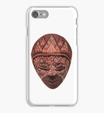 Traditional indonesian mask on a white background iPhone Case/Skin