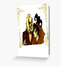 Beetle juice and Lydia Greeting Card