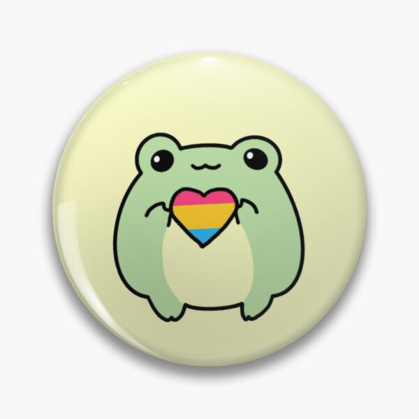 Pride Frogs: Pansexual Flag Pin