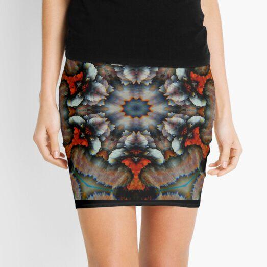 Abstract tile Mini Skirt