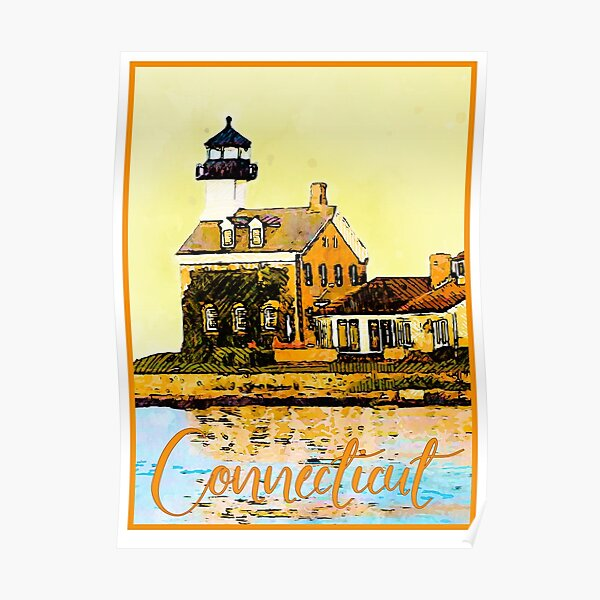 Connecticut Travel Poster Poster