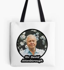 Sir David Attenborough Tote Bag