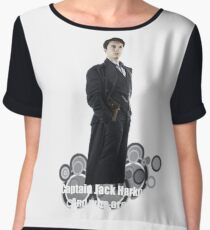 Captain Jack Harkness : Who are you ? Chiffon Top