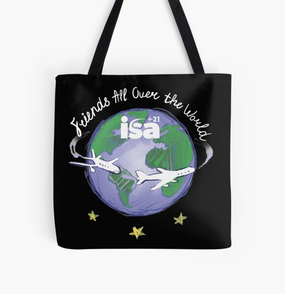 Friends All Over The World (for dark colours) All Over Print Tote Bag