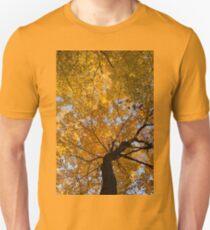 Golden Canopy - Twisted Tree Trunk Vertical T-Shirt