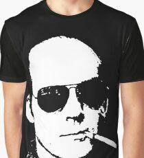 Hunter S Thompson - Smoking Graphic T-Shirt