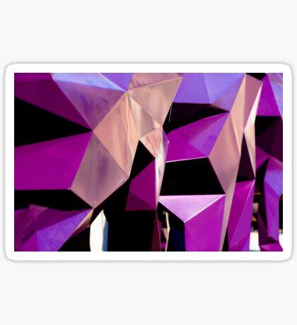 Geometrically Purple Sticker