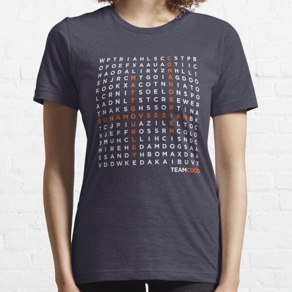 TeamCOCO WordSearch (Light Font) Essential T-Shirt