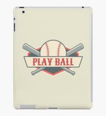 Play Ball Retro Vintage Baseball iPad Case/Skin