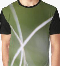 Macro of A Green Palm Tree Leaf Graphic T-Shirt