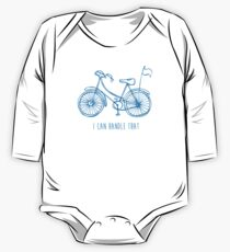 Hipster bicycle - blue One Piece - Long Sleeve