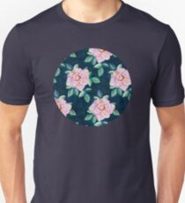 Simple Pink Rose Oil Painting Pattern T-Shirt