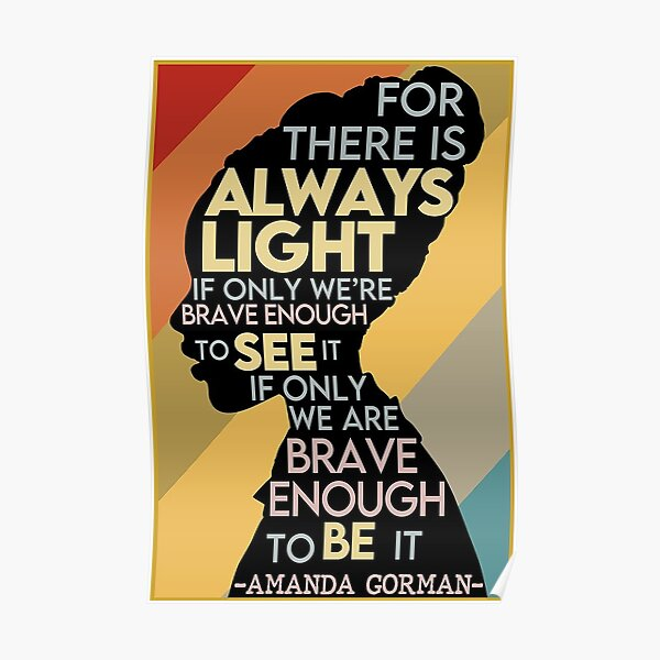 black live, for there is always light Poster
