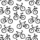 Bicycle sketch, seamless pattern by Kudryashka