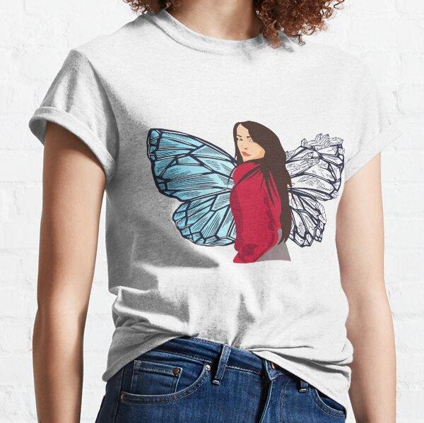 Butterfly Girl Portrait-  Protikhya Gondhia Classic T-Shirt