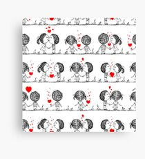Couple in love together, valentine Canvas Print